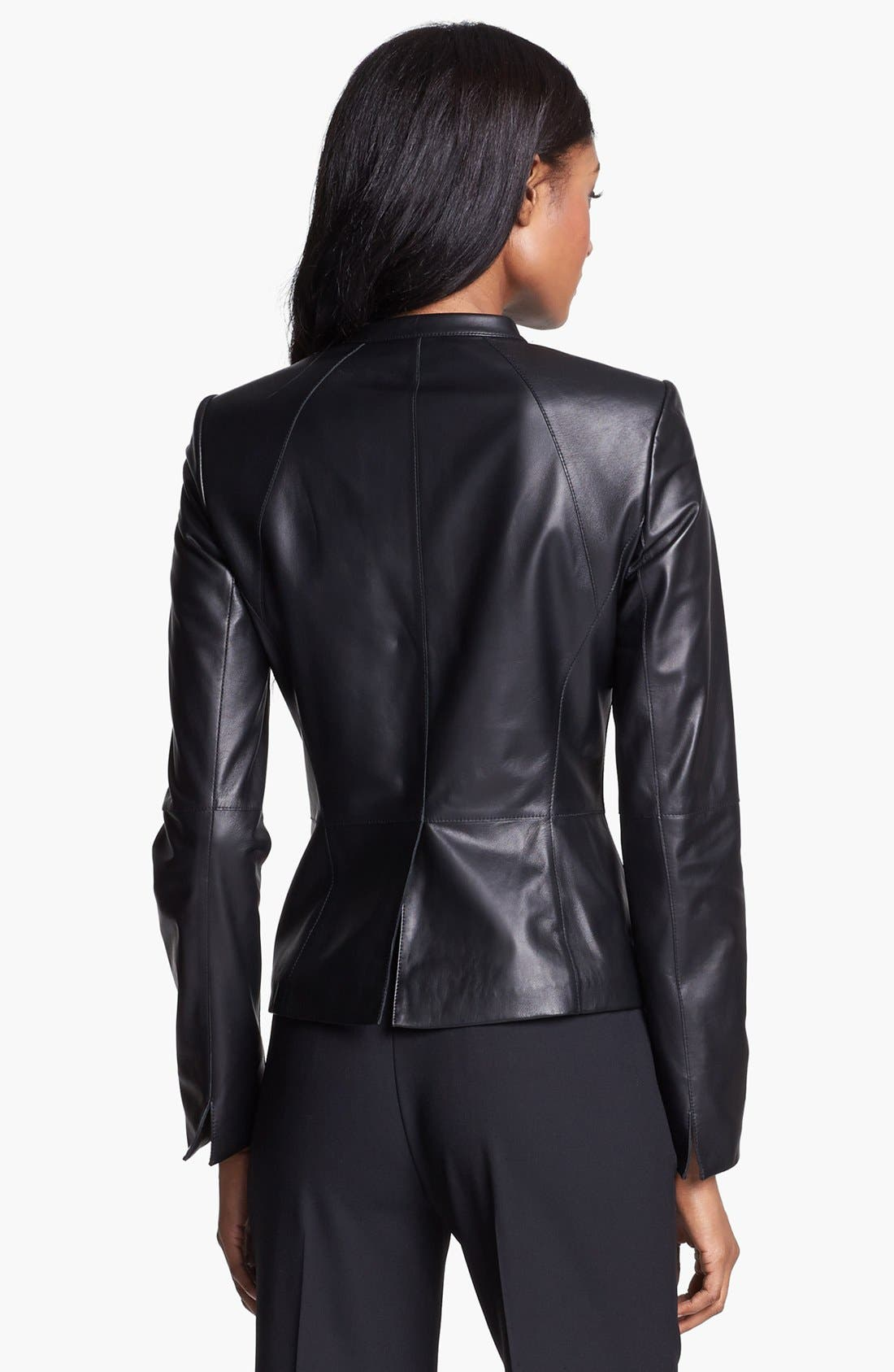 Alternate Image 5  - Lafayette 148 New York 'Velvet' Lambskin Leather Jacket