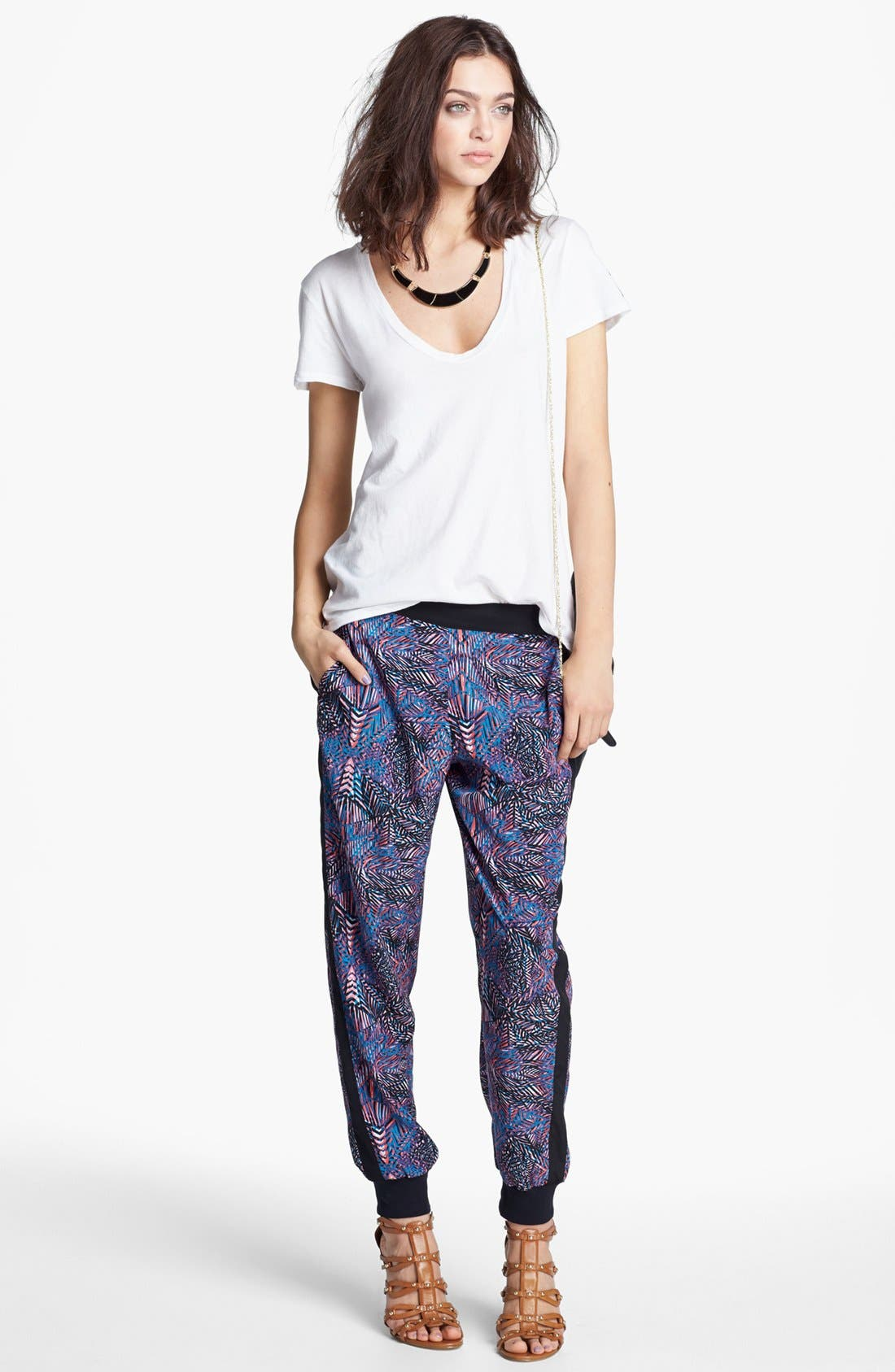 Alternate Image 1 Selected - James Perse Tee & Trouvé Pants