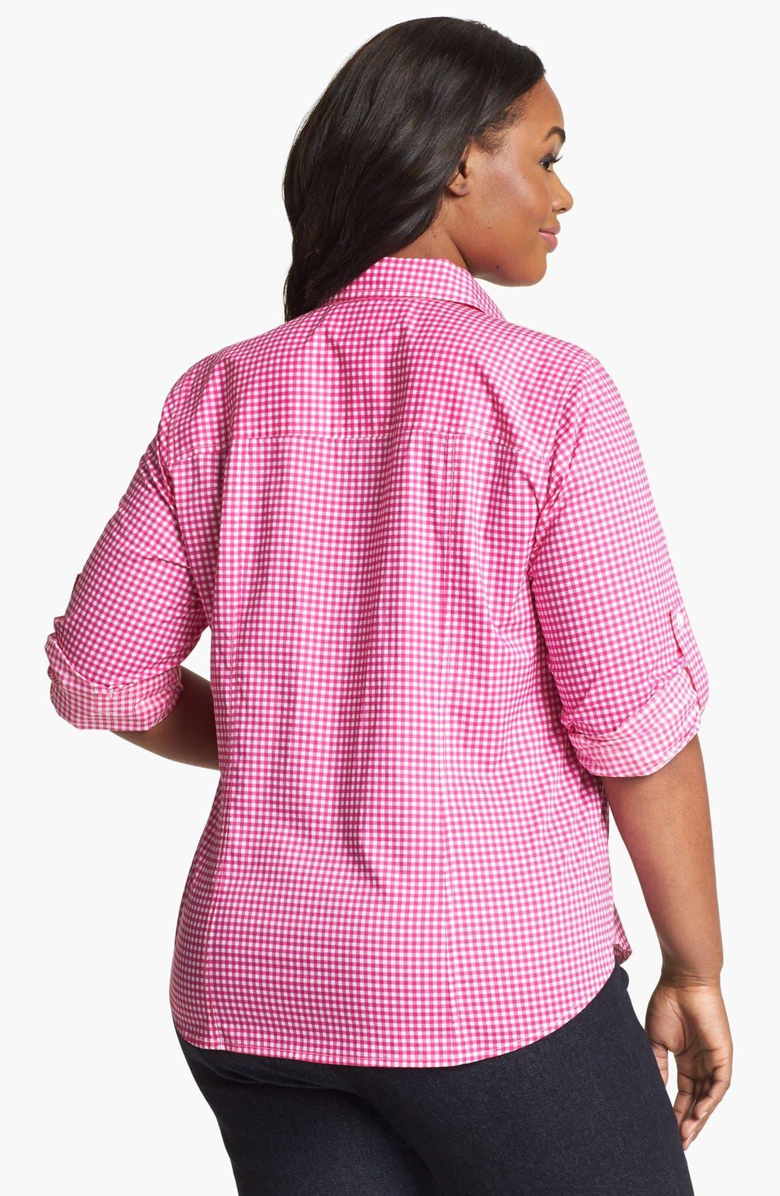 Alternate Image 2  - MICHAEL Michael Kors 'Oxford' Gingham Shirt (Plus)