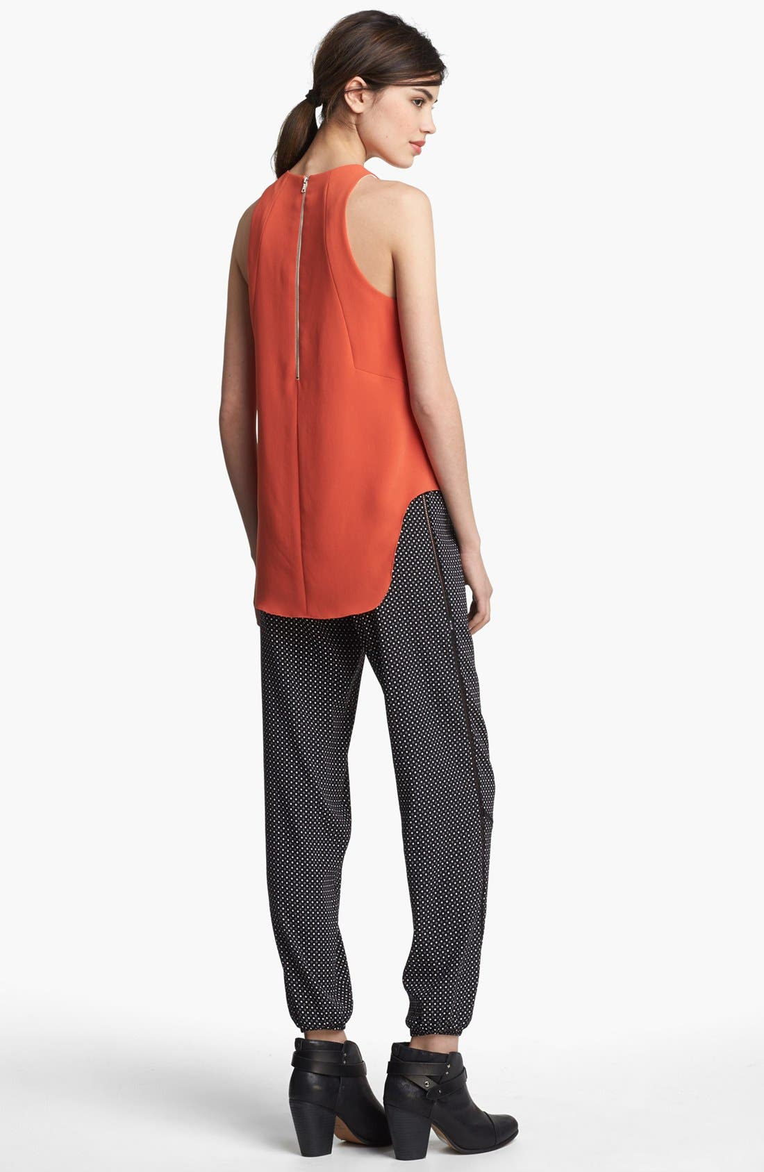 Alternate Image 4  - rag & bone 'Adeline' High/Low Racerback Top