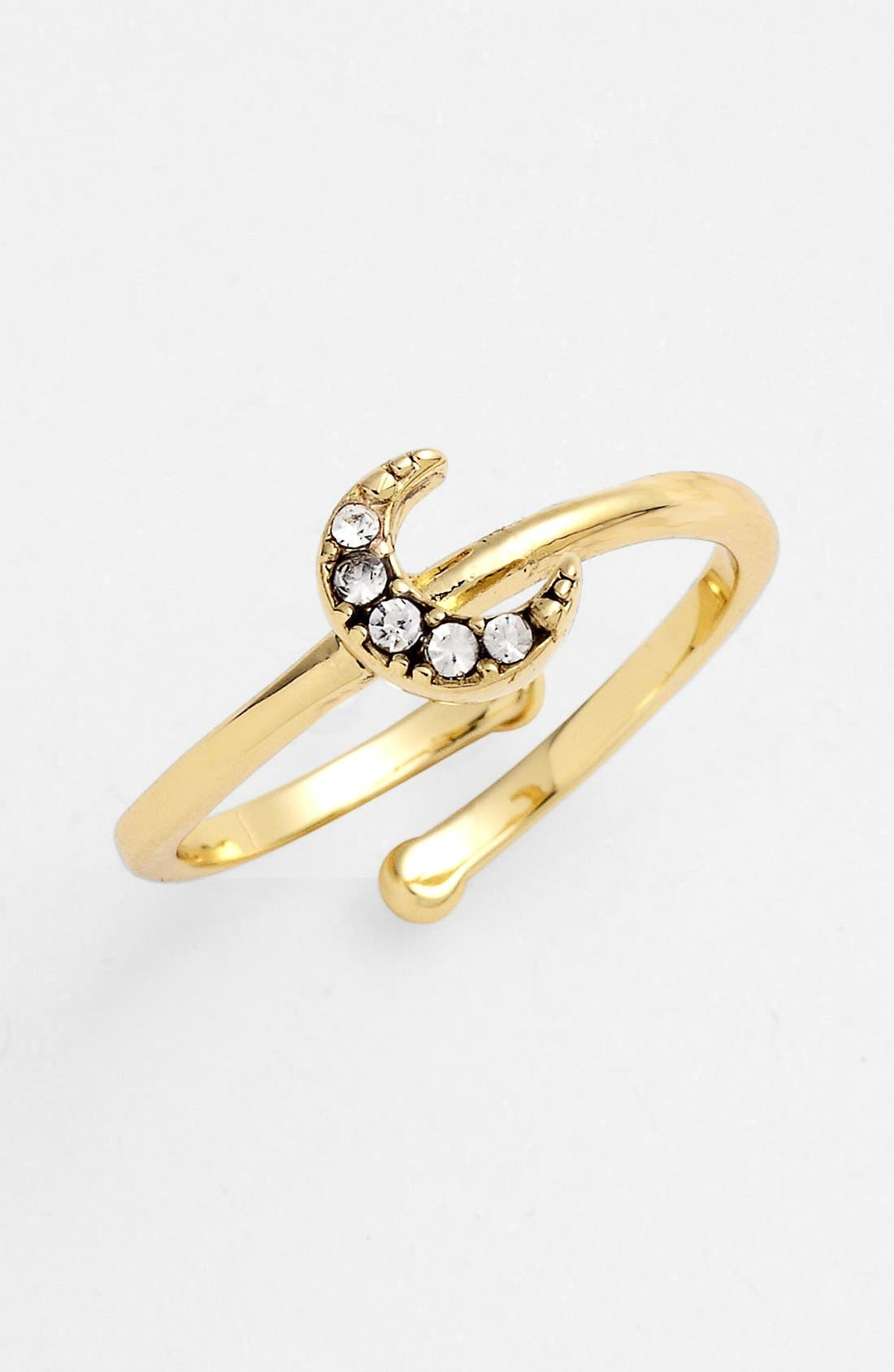 Alternate Image 1 Selected - Ariella Collection Moon Ring (Nordstrom Exclusive)