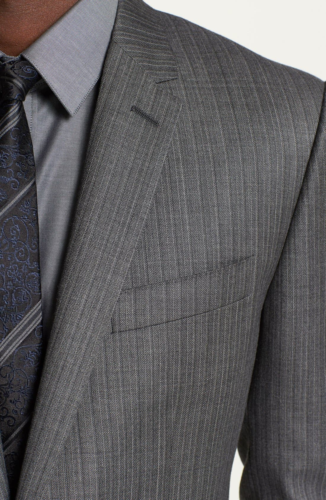 Alternate Image 2  - Dolce&Gabbana 'Martini' Herringbone Wool Suit