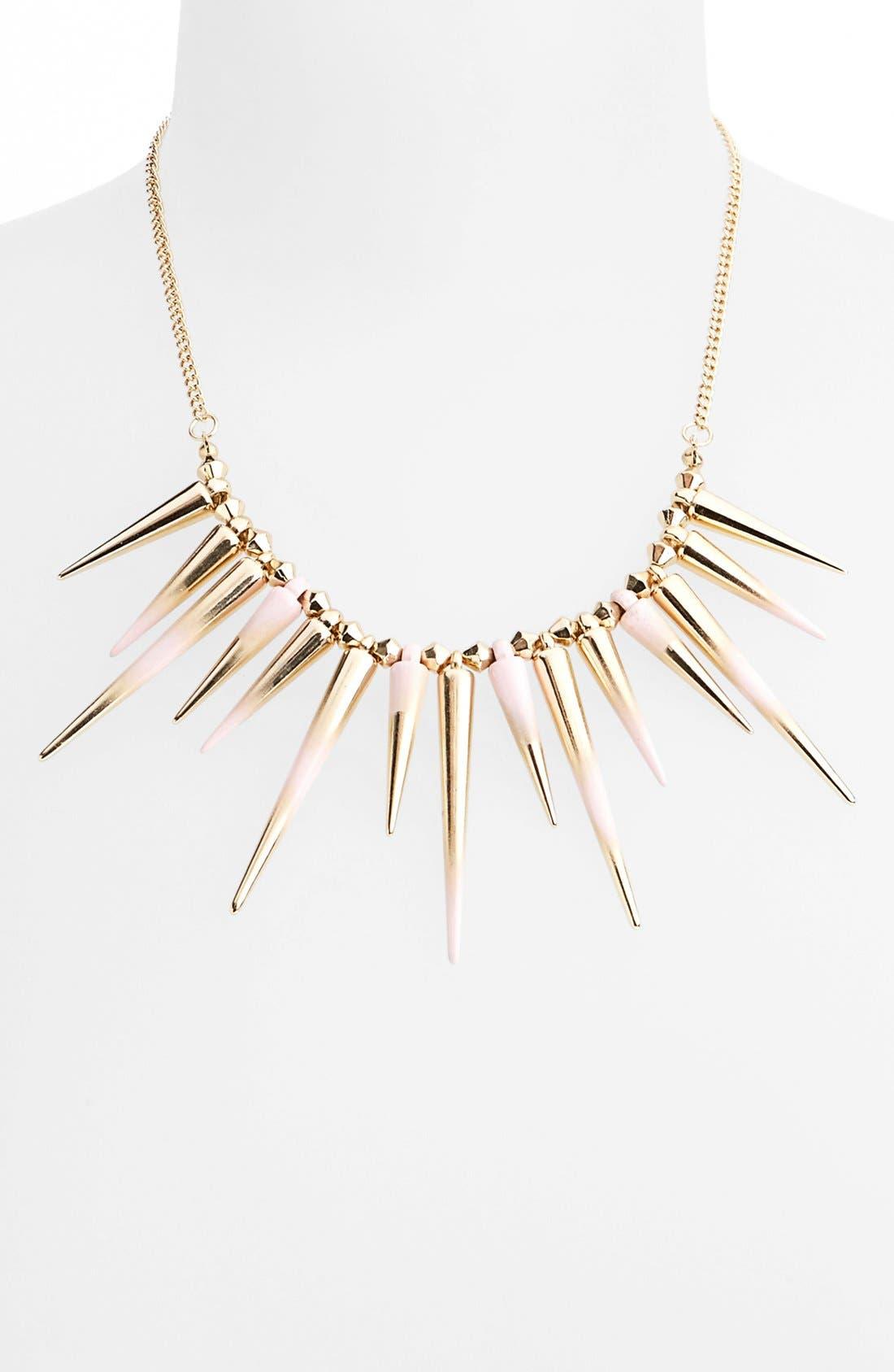 Main Image - Topshop Dip Dye Spike Collar Necklace