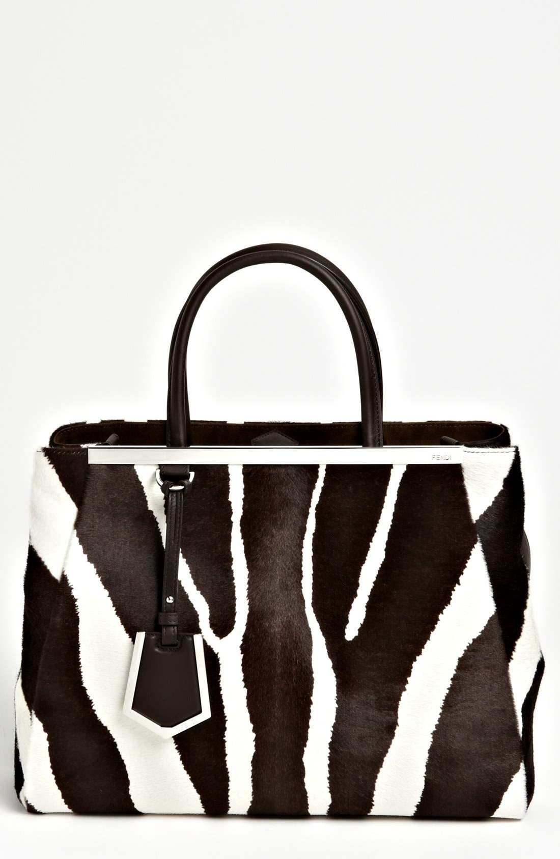 Alternate Image 1 Selected - Fendi '2Jours - Medium' Calf Hair Shopper