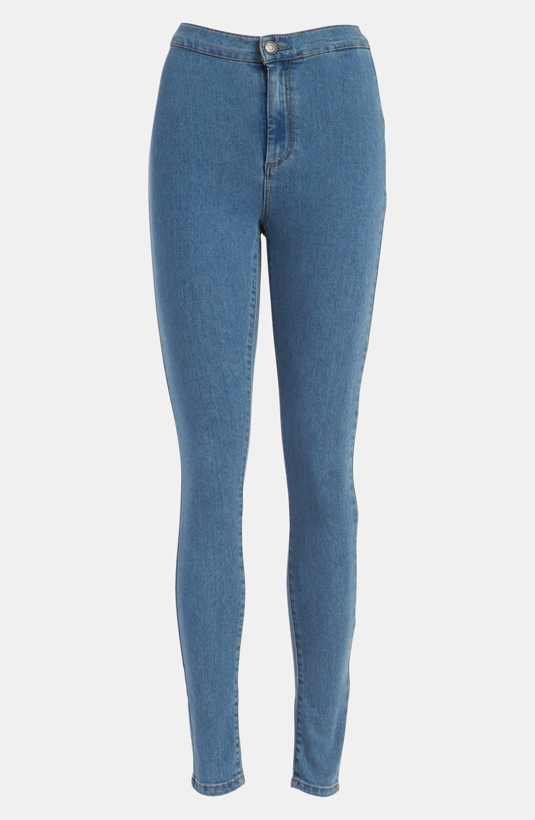 Alternate Image 1 Selected - Topshop Moto 'Joni Disco' High Waisted Jeans