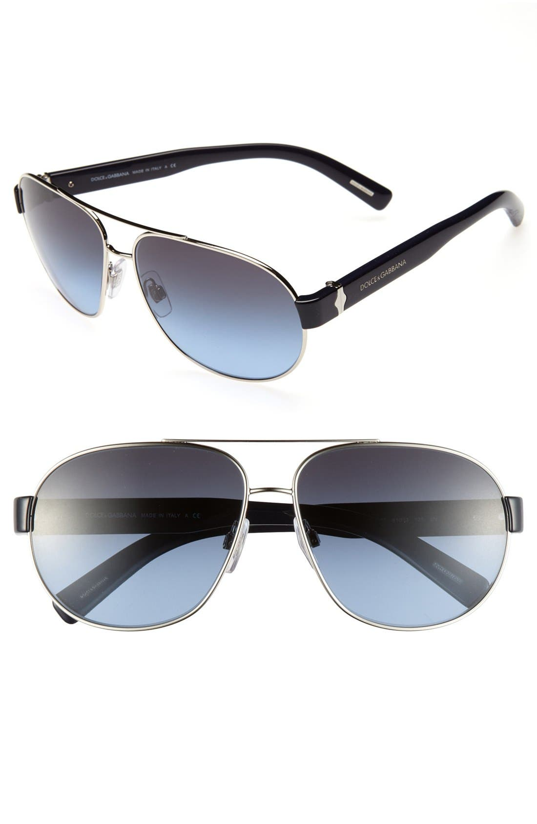 Main Image - Dolce&Gabbana 61mm Aviator Sunglasses