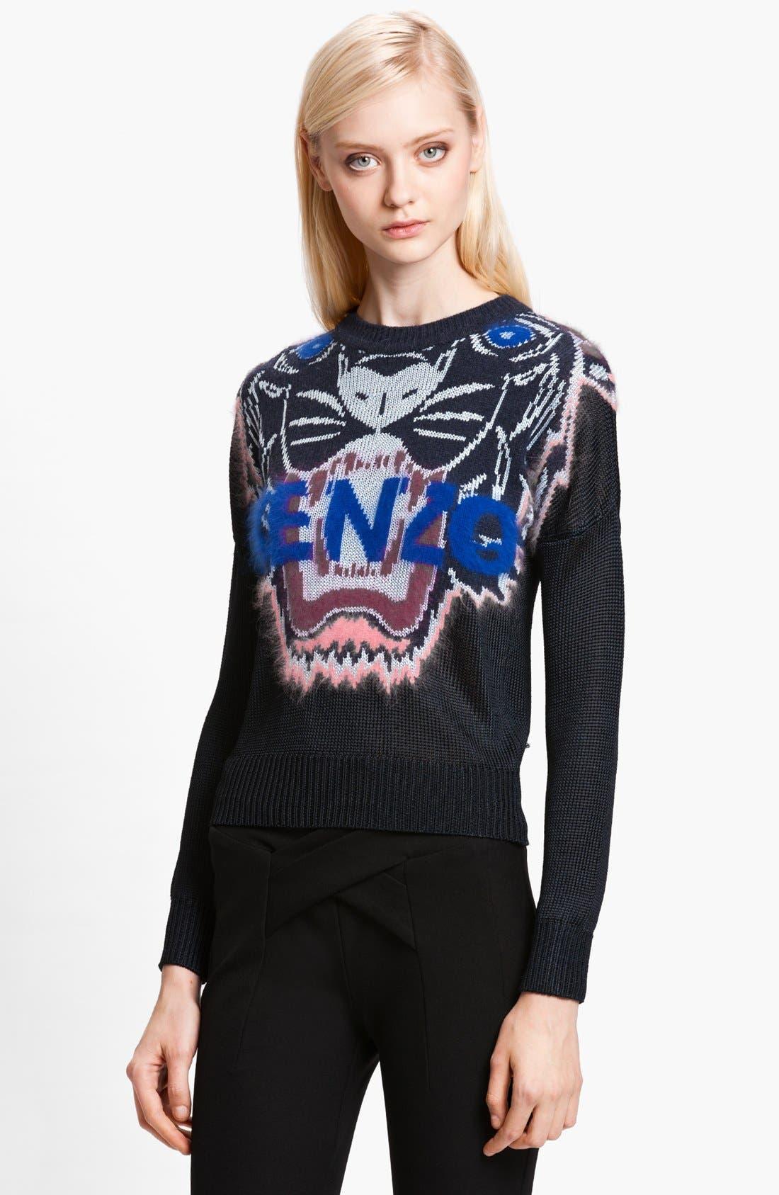 Alternate Image 1 Selected - KENZO Tiger Intarsia Stitch Sweater