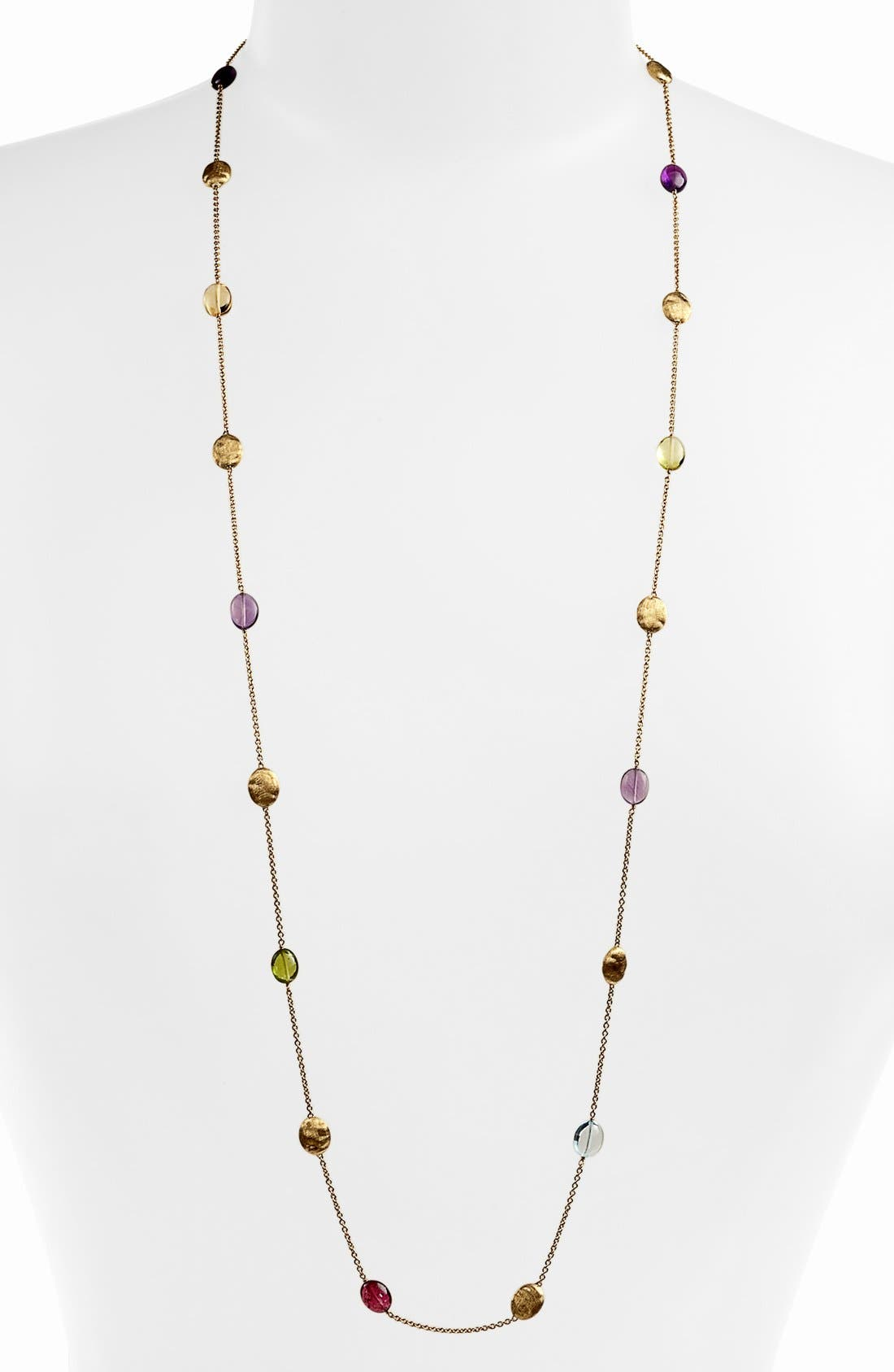 Alternate Image 1 Selected - Marco Bicego 'Siviglia' Long Semiprecious Station Necklace