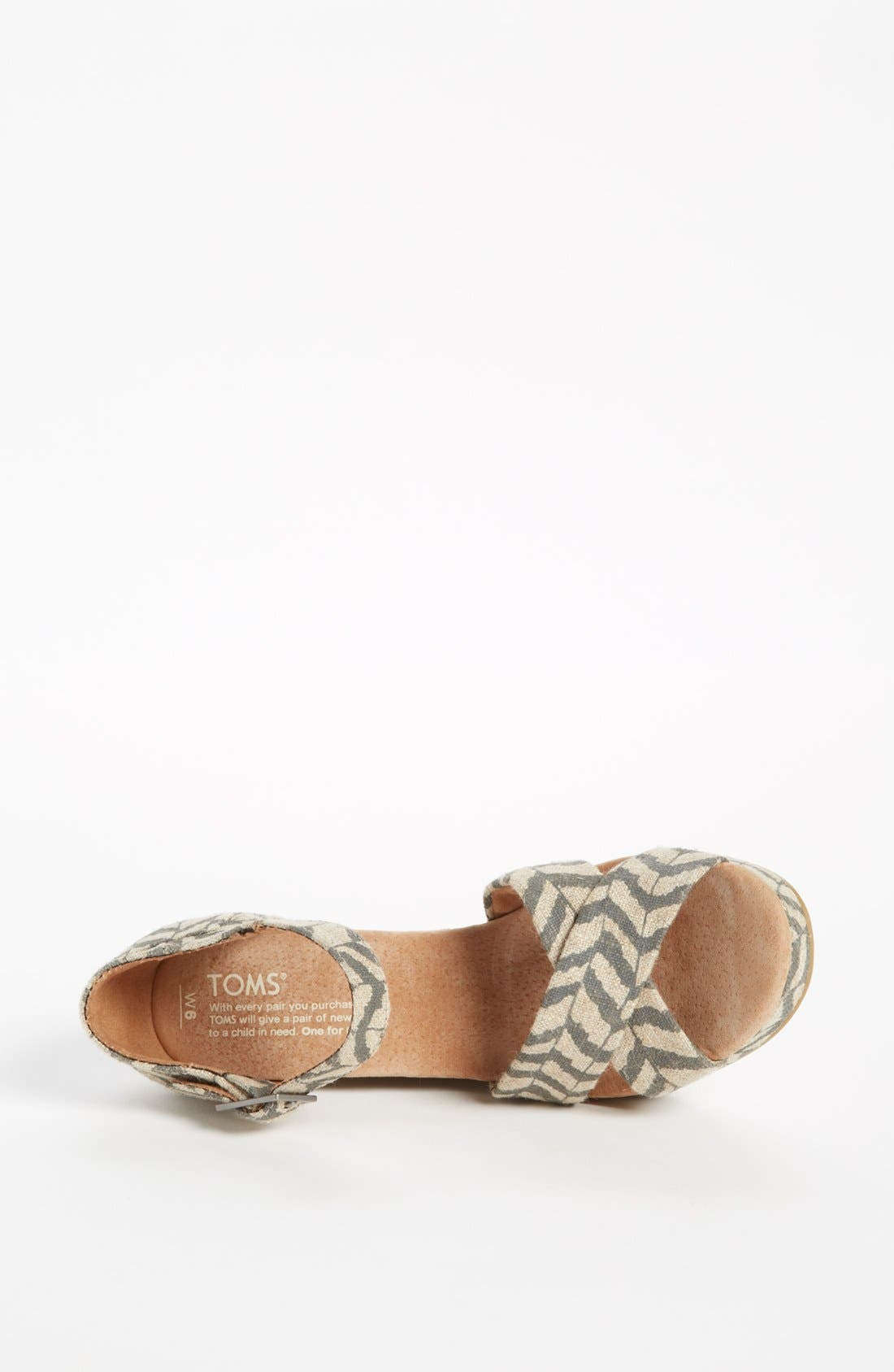 Alternate Image 3  - TOMS 'Classic - Zebra Zag' Wedge