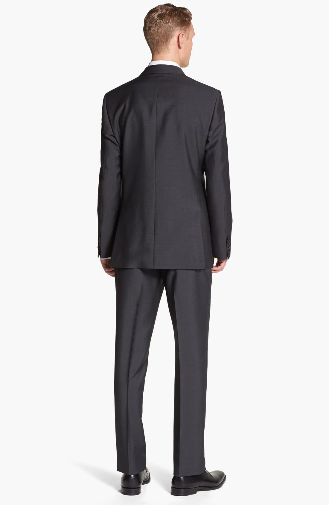 Alternate Image 3  - Burberry London Trim Fit Charcoal Wool & Mohair Suit