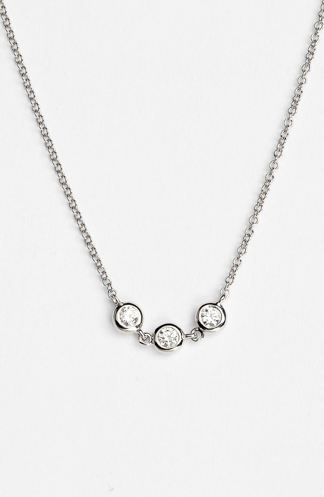 Main Image - Bony Levy Triple Diamond Necklace (Nordstrom Exclusive)