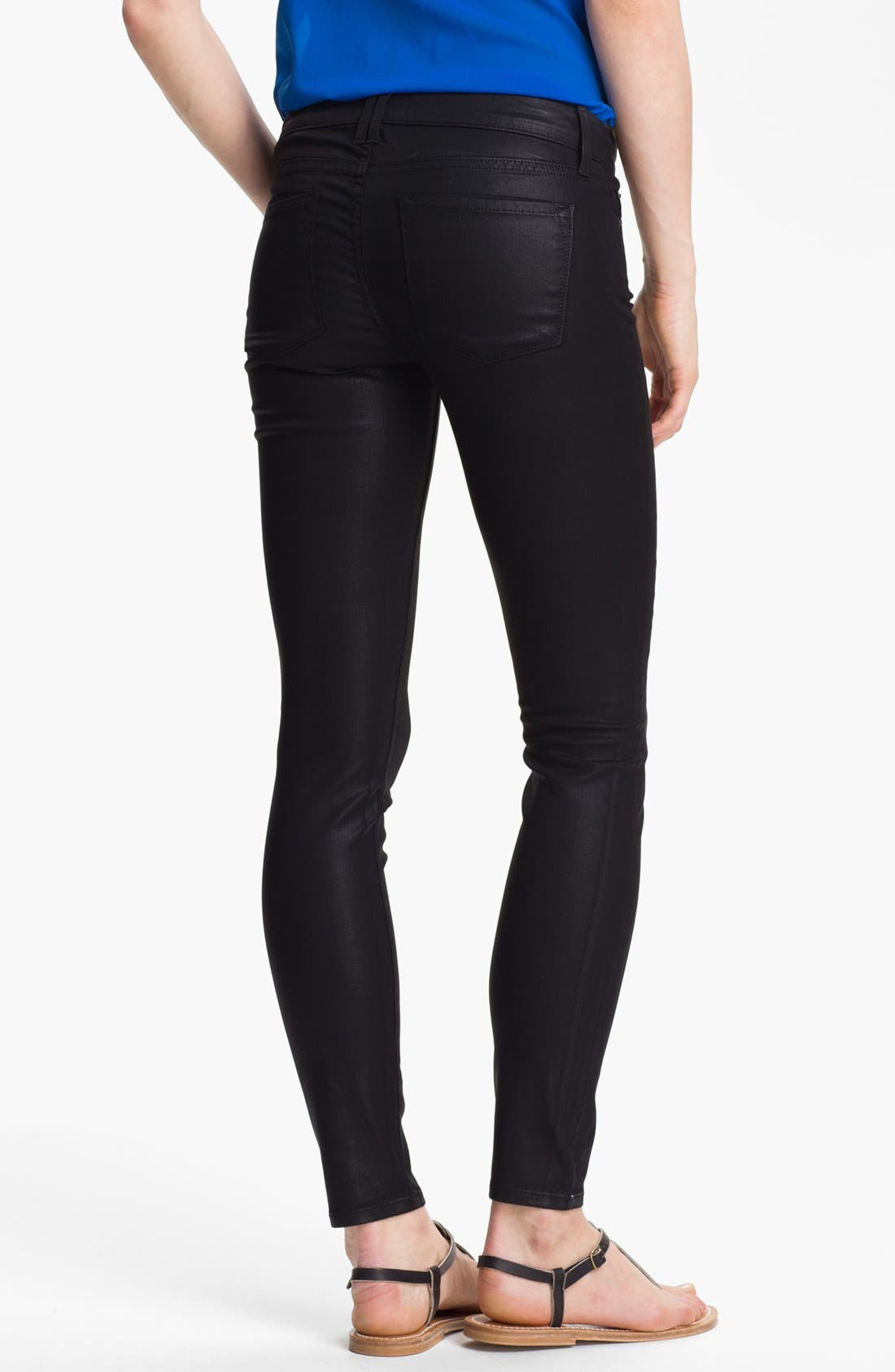 Alternate Image 2  - Vince Coated Skinny Stretch Jeans