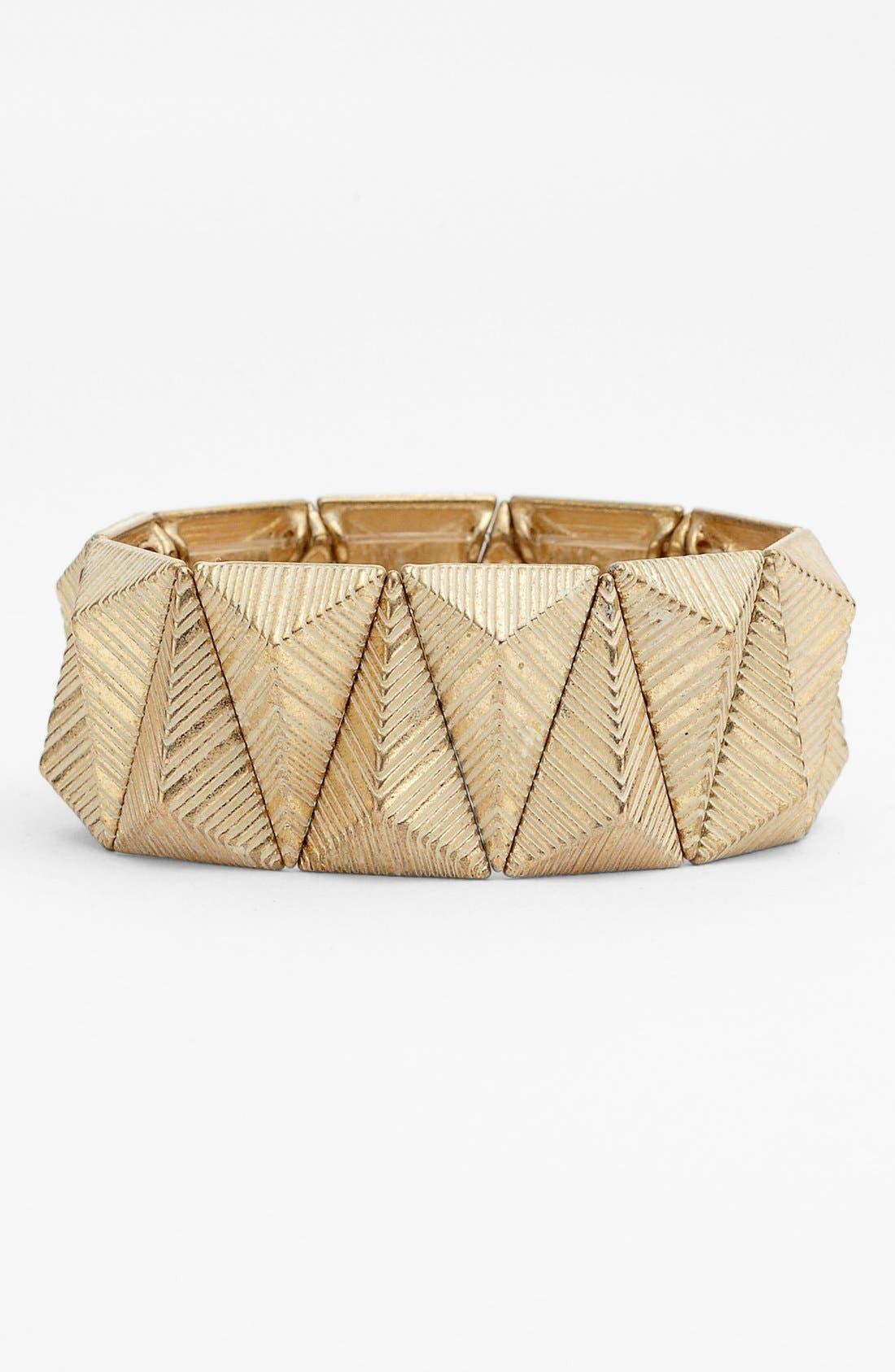 Alternate Image 1 Selected - NICO NEW YORK 'Pastel Triangle' Stretch Bracelet