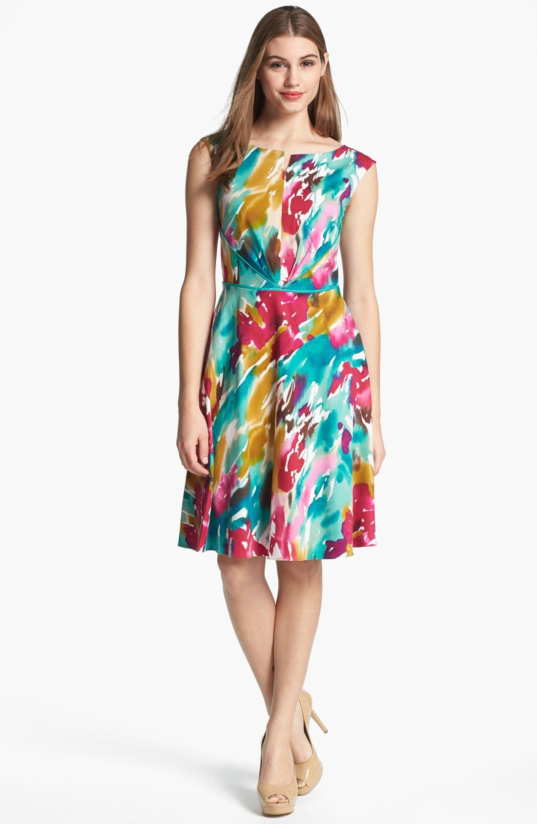 Alternate Image 1 Selected - Adrianna Papell Cutout Fit & Flare Dress