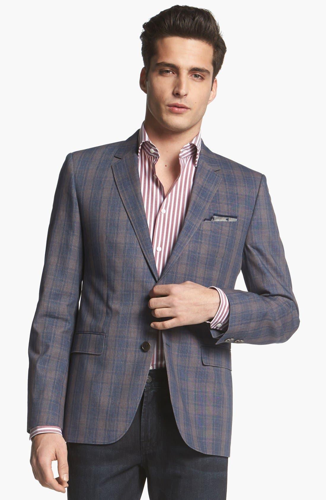 HUGO 'Aeris' Extra Trim Fit Cotton Sportcoat,                         Main,                         color, Navy
