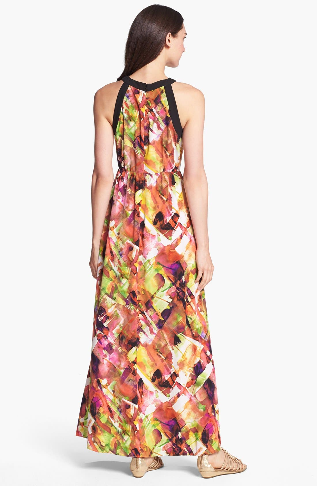 Alternate Image 2  - Marc New York by Andrew Marc Print Maxi Dress