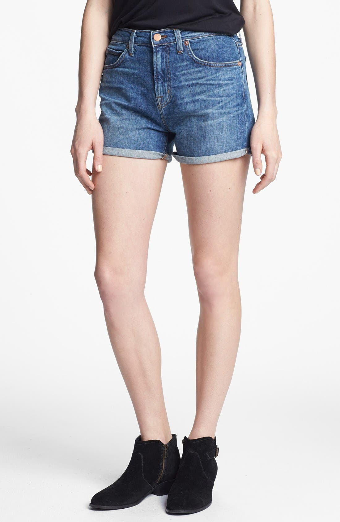 Main Image - J Brand High Waist Denim Shorts (Ojai)