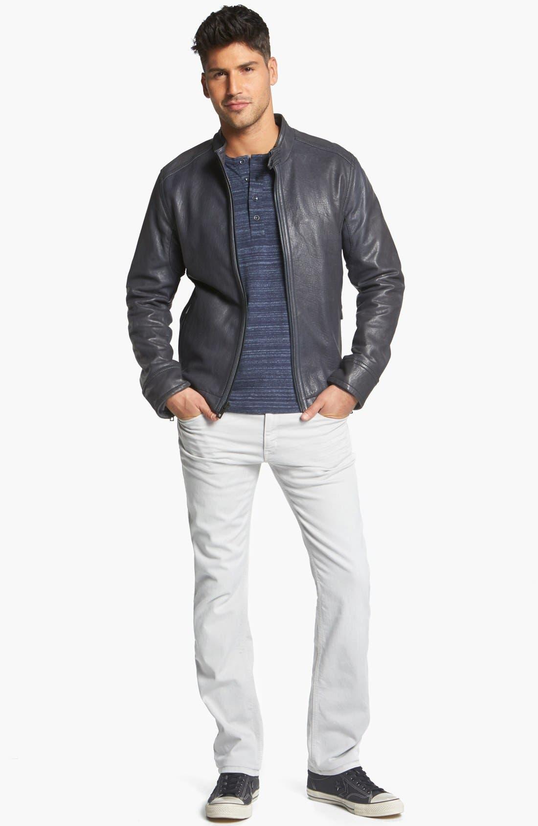 Alternate Image 4  - Andrew Marc 'Forest' Leather Moto Jacket