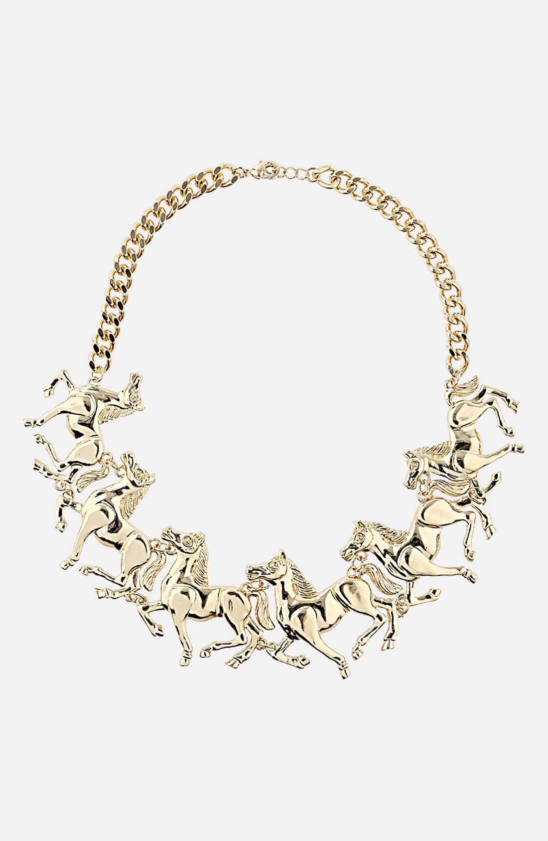 Alternate Image 1 Selected - Topshop 'Galloping Horses' Collar Necklace
