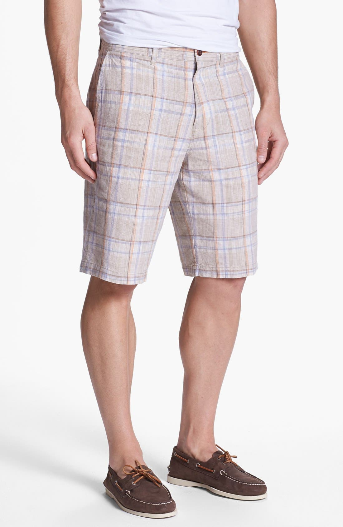 Alternate Image 1 Selected - Tommy Bahama 'Set the Space' Silk Blend Shorts
