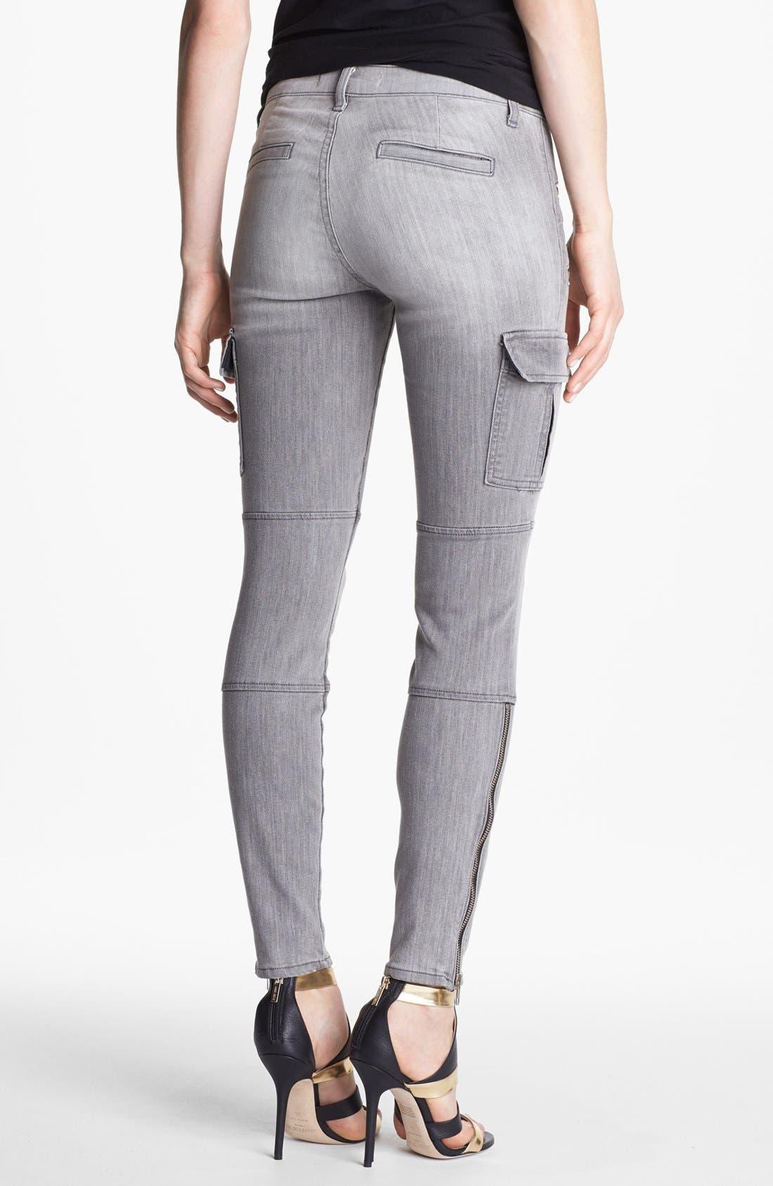 Alternate Image 2  - J Brand 'The Brix' Moto Skinny Pants (Lunar)