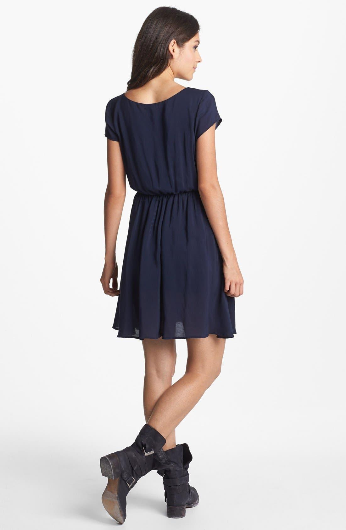 Alternate Image 2  - Minty Elastic Waist Dress (Juniors) (Online Only)
