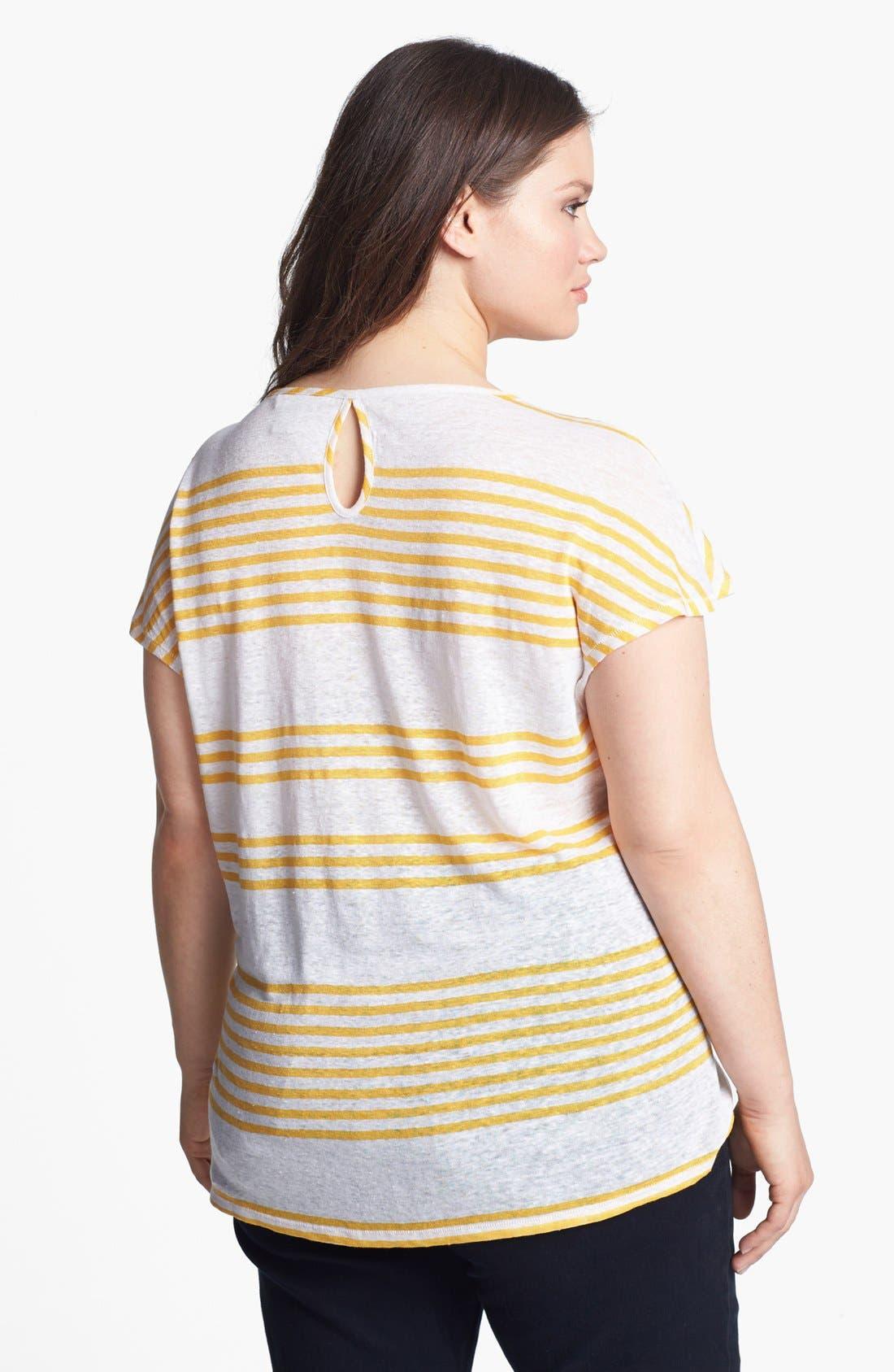 Alternate Image 2  - Lucky Brand 'Arianna' Stripe Tee (Plus Size)