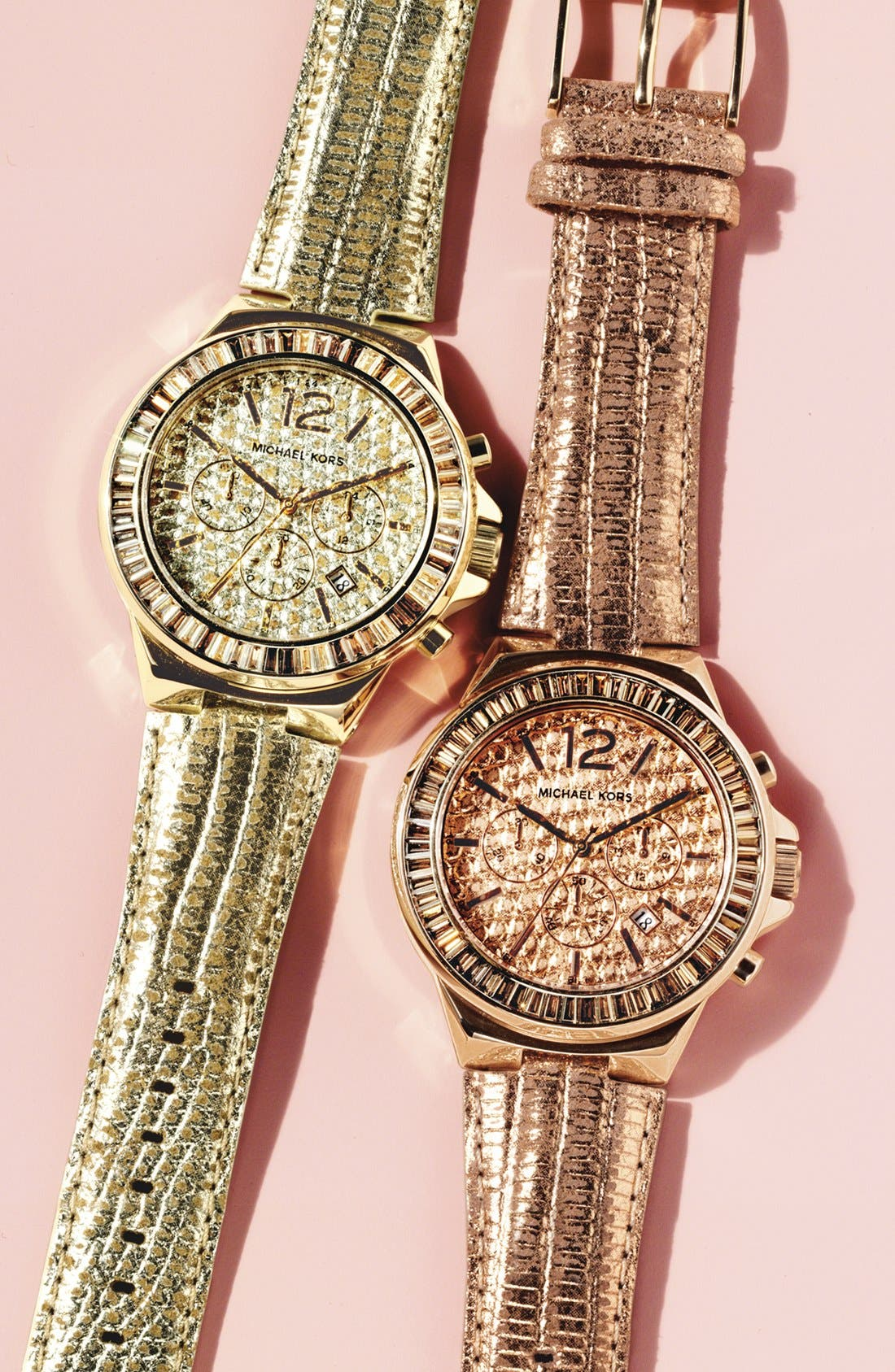 Alternate Image 2  - Michael Kors 'Gramercy' Embossed Leather Strap Watch, 45mm