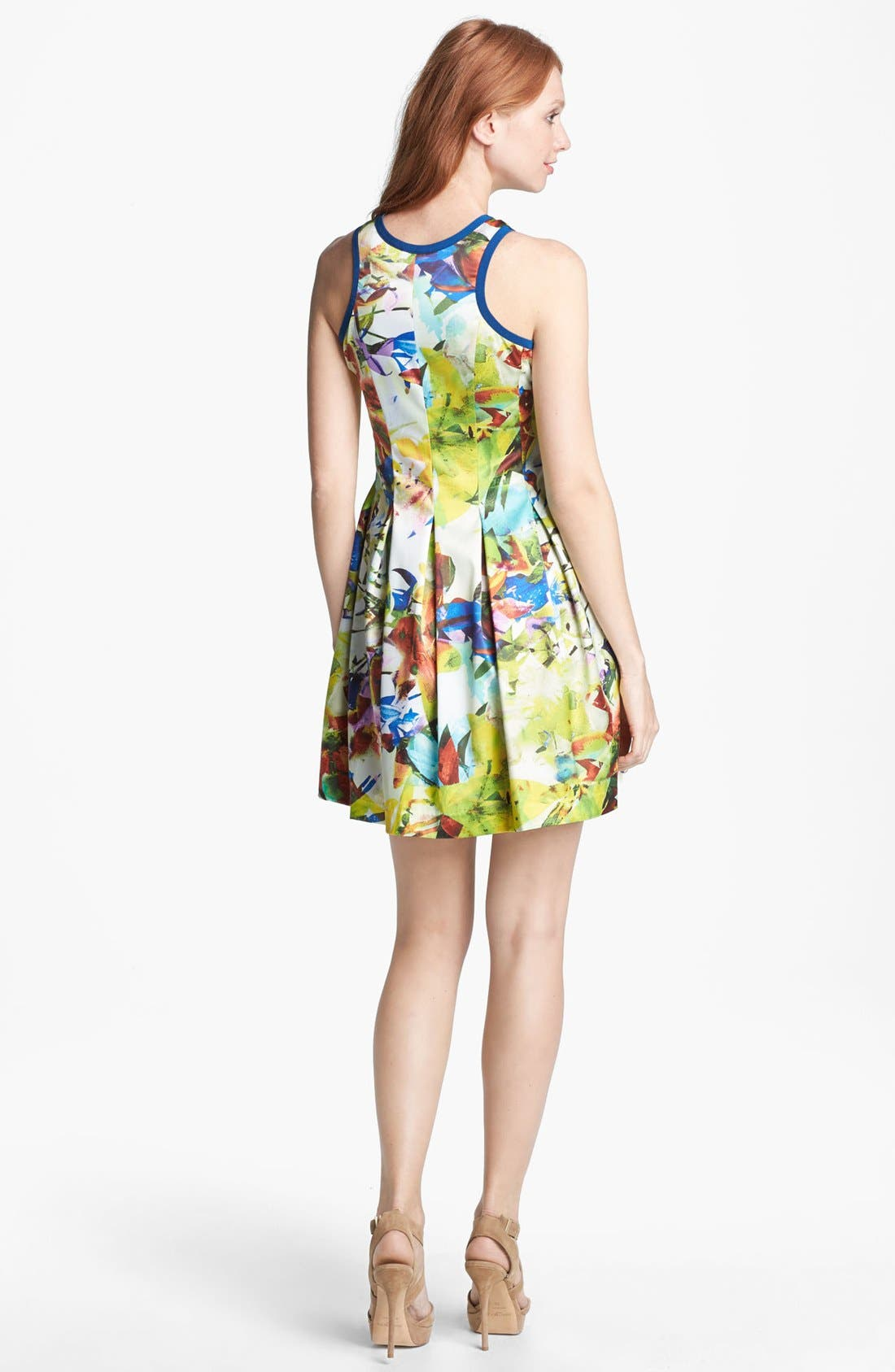 Alternate Image 2  - Parker 'Rio' Stretch Silk Fit & Flare Dress