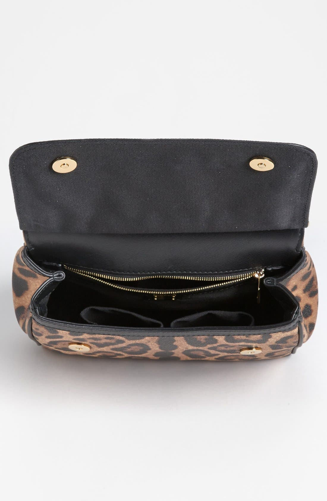 Alternate Image 3  - Dolce&Gabbana 'Miss Sicily - Slim' Leopard Print Crossbody Satchel