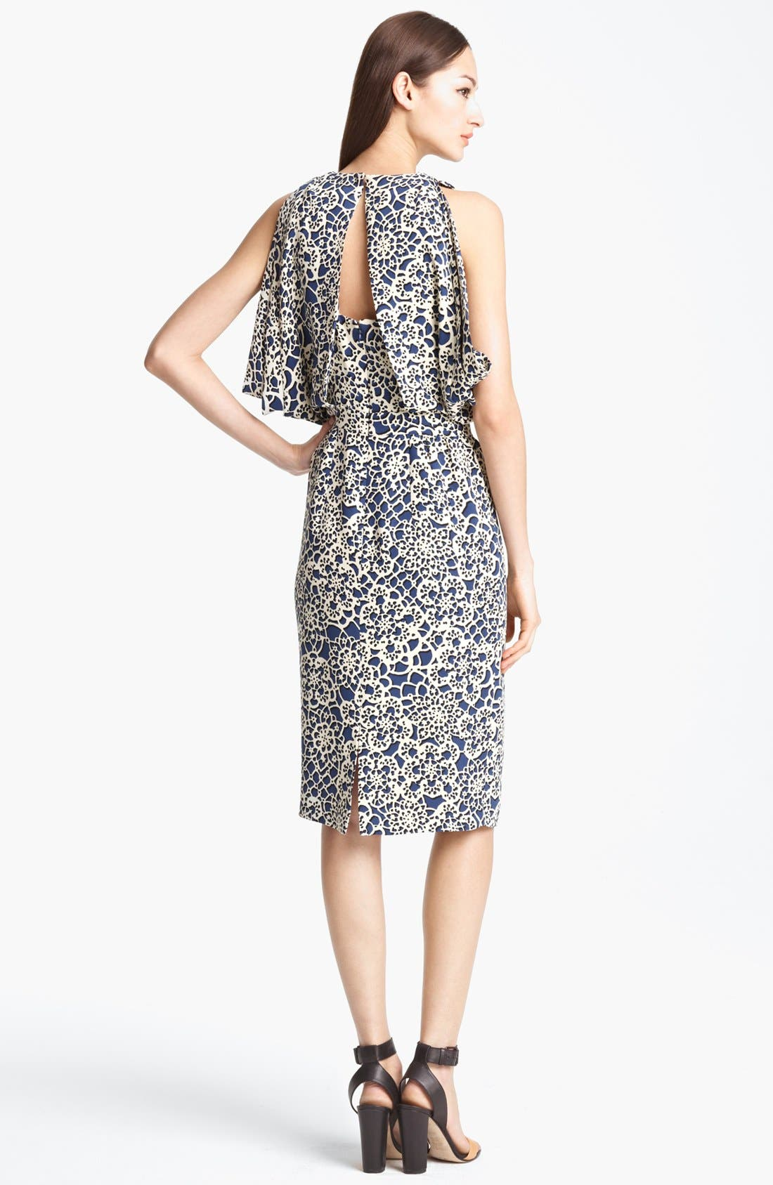 Alternate Image 2  - Thakoon Open Back Print Silk Dress
