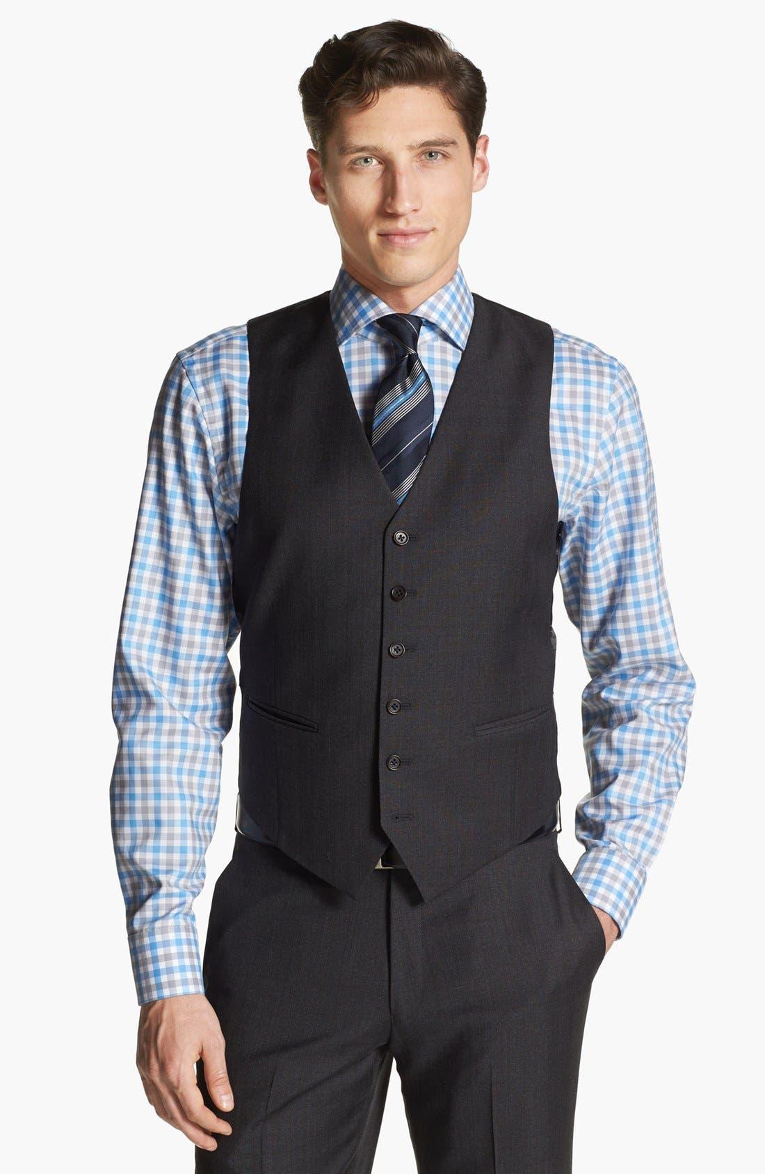 Alternate Image 6  - John Varvatos Star USA 'Townshend' Trim Fit Three Piece Suit