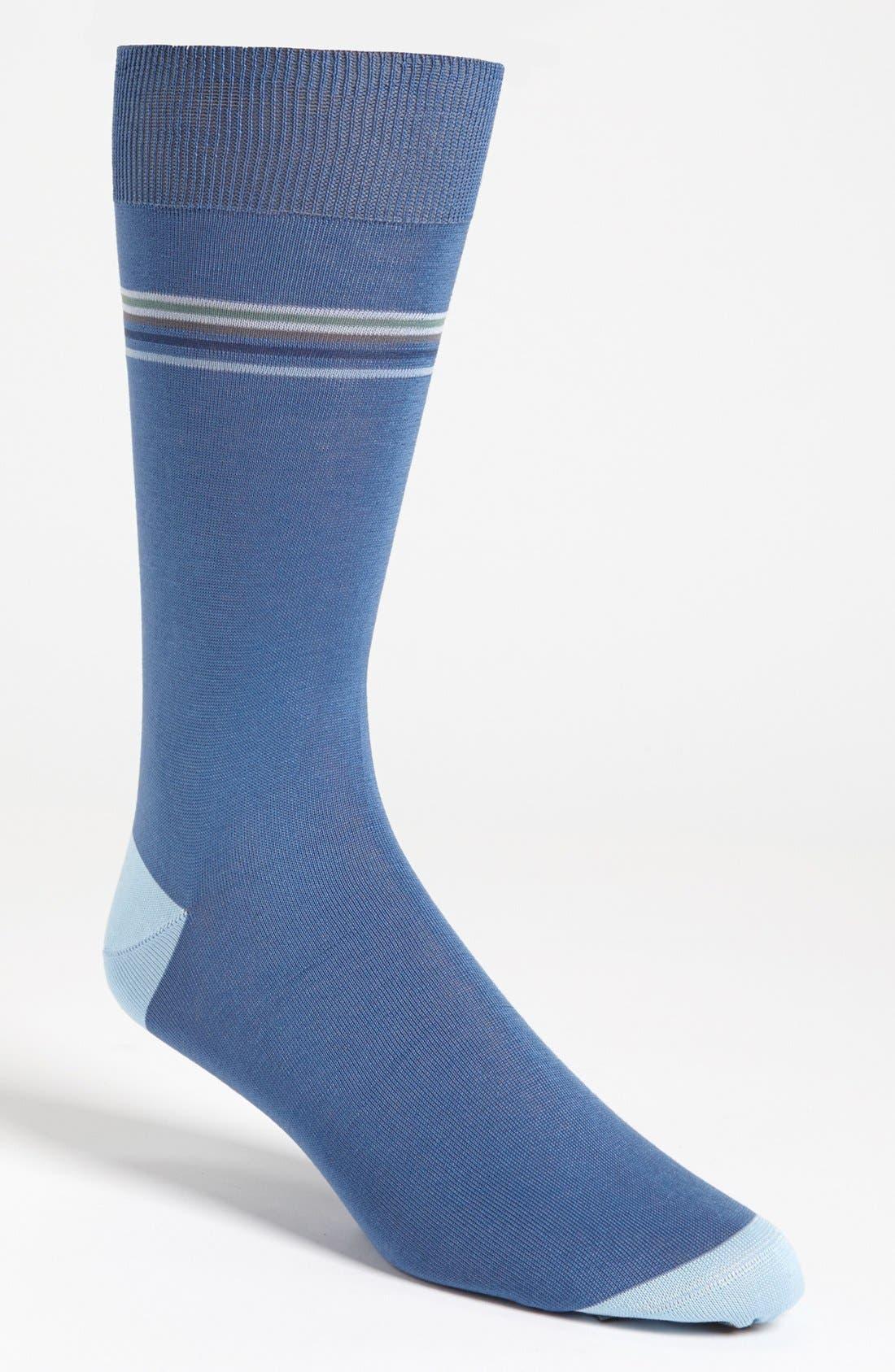 Main Image - Canali Stripe Socks