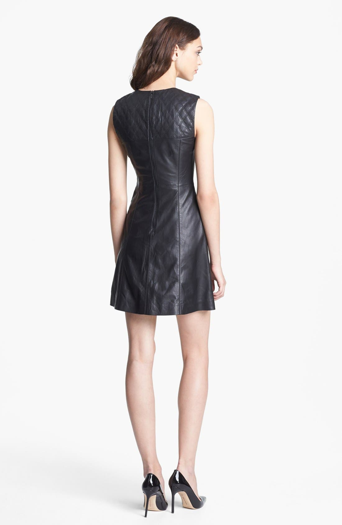 Alternate Image 2  - Miss Wu Leather Dress (Nordstrom Exclusive)
