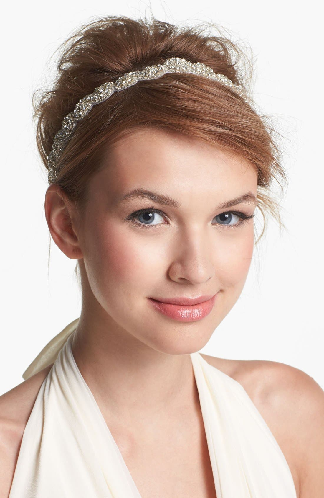 Alternate Image 1 Selected - Tasha 'Crystal Beaded Ribbon' Head Wrap