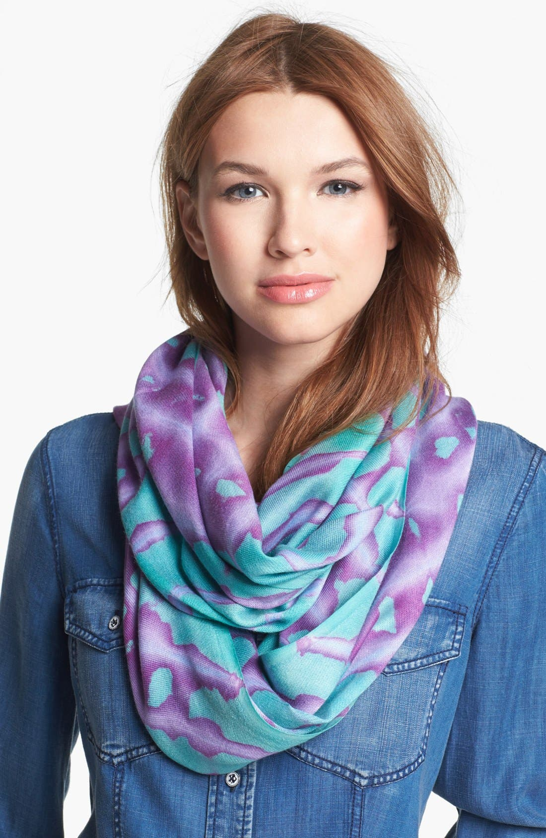Main Image - Collection XIIX Tie Dye Infinity Scarf