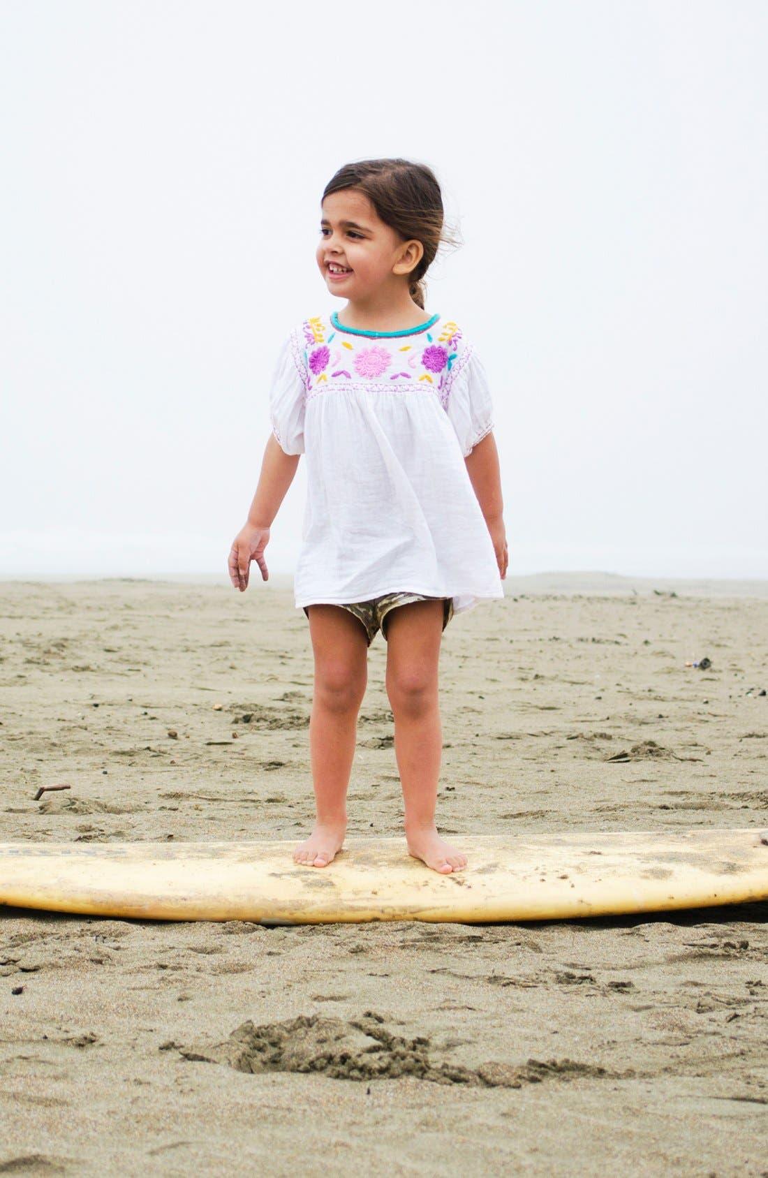 Alternate Image 1 Selected - Peek Tee & Shorts (Toddler Girls, Little Girls & Big Girls)
