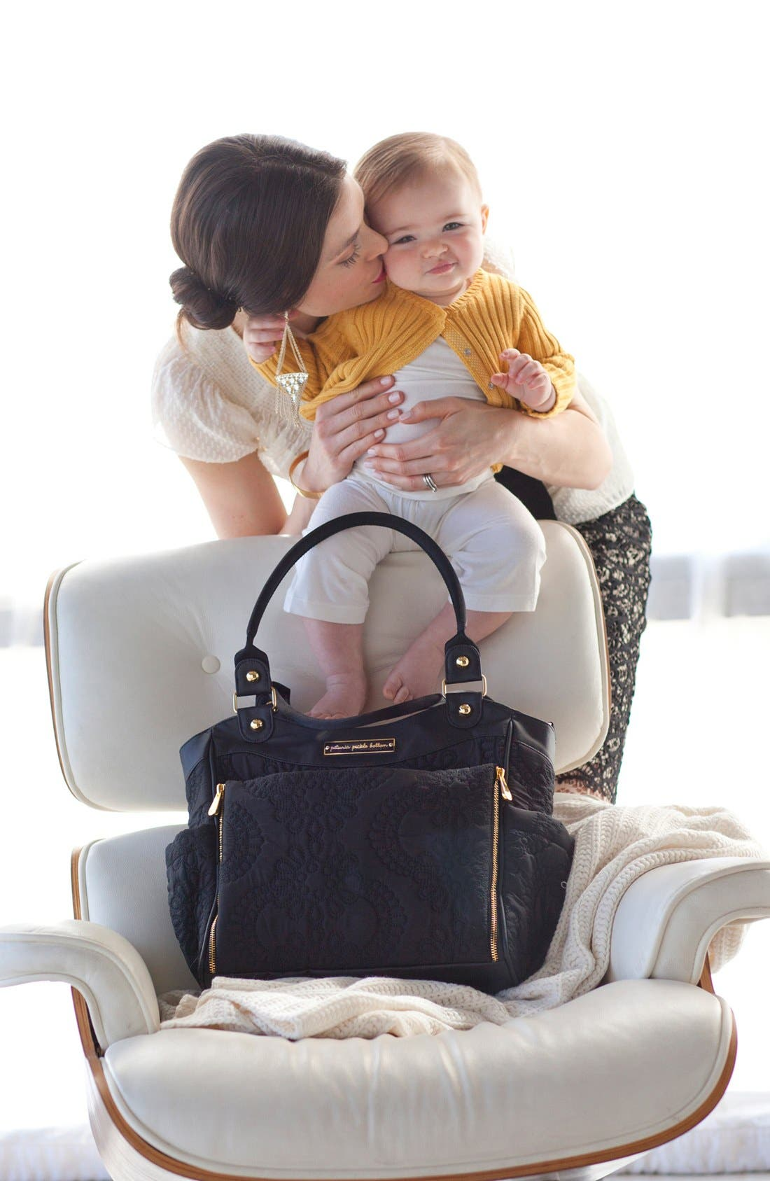 Alternate Image 4  - Petunia Pickle Bottom 'City Carryall' Embossed Diaper Bag (Special Edition)
