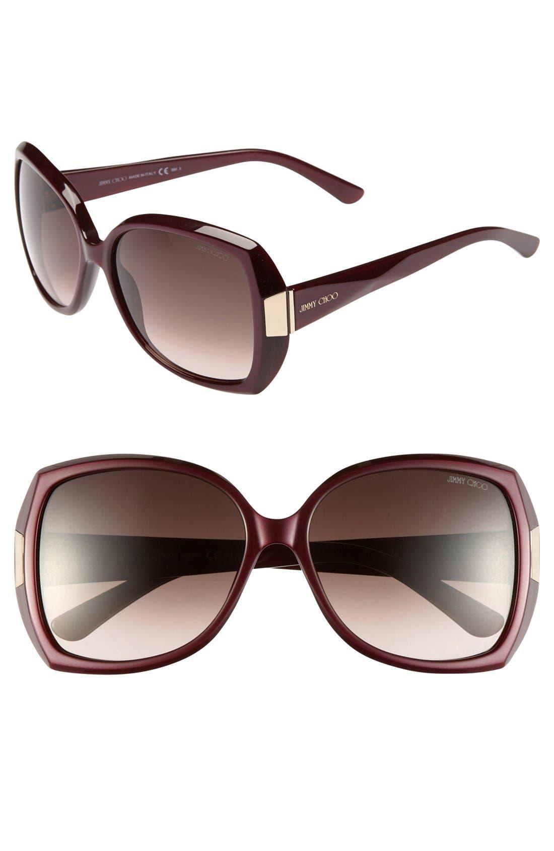 Alternate Image 1 Selected - Jimmy Choo 'Gaby' Oversized Sunglasses