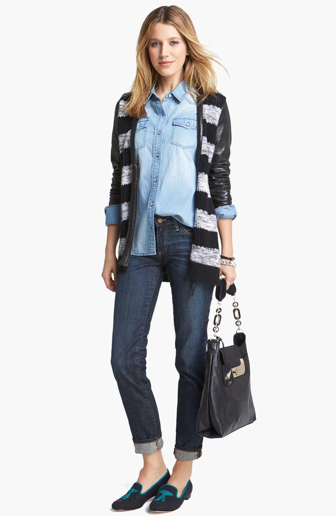 Alternate Image 10  - AG 'The Stilt' Cigarette Leg Stretch Jeans (4 Year Coastline)