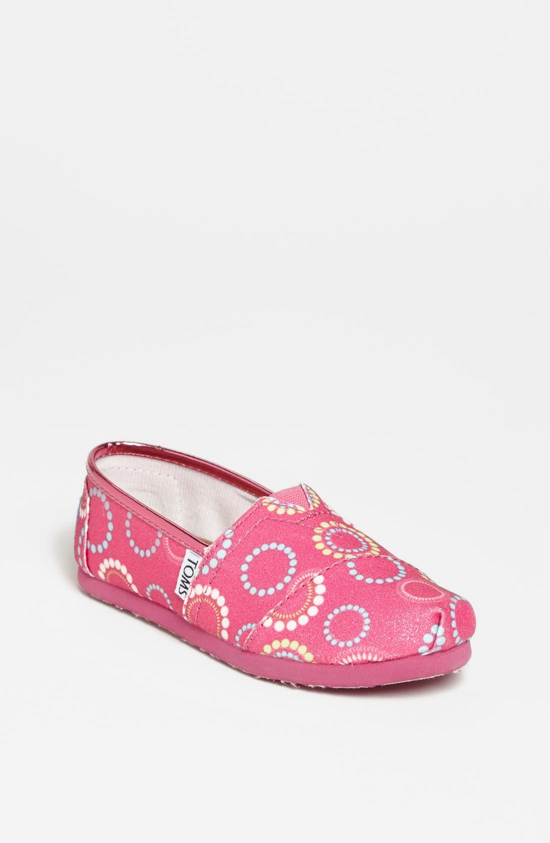 Alternate Image 1 Selected - TOMS 'Classic Youth - Circles Glitter' Slip-On (Toddler, Little Kid & Big Kid)