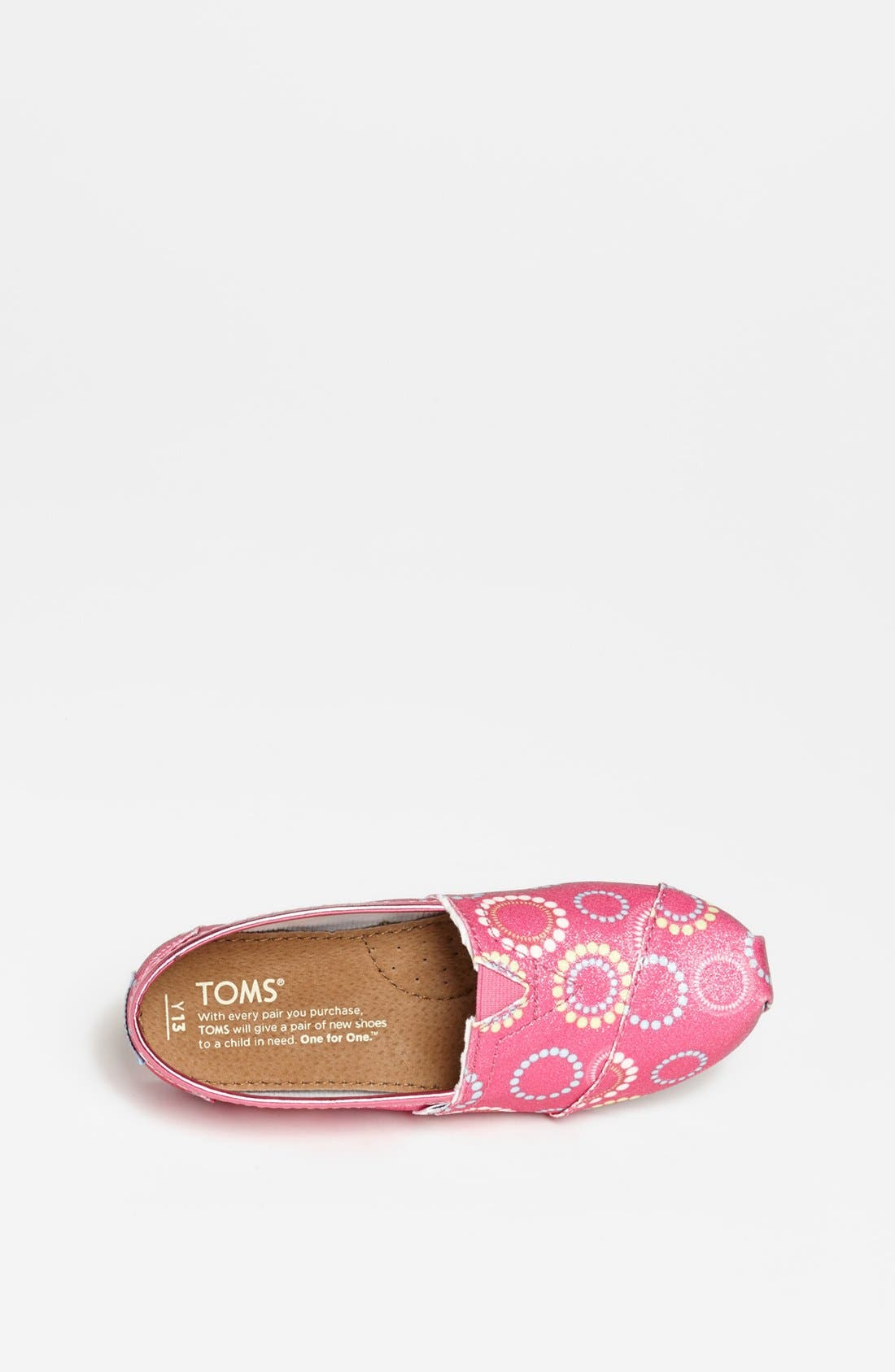 Alternate Image 3  - TOMS 'Classic Youth - Circles Glitter' Slip-On (Toddler, Little Kid & Big Kid)