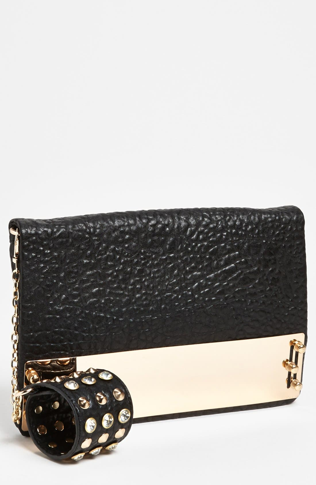 Main Image - Nila Anthony Metal Plated Clutch & Arm Band