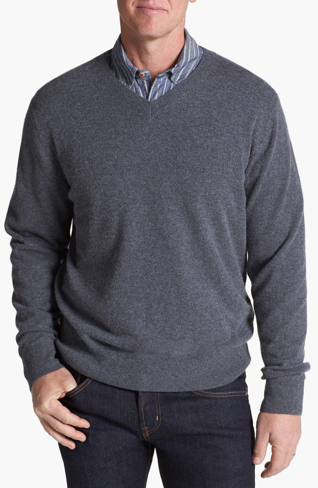 Alternate Image 1 Selected - Cutter & Buck 'Lake Union' V-Neck Sweater