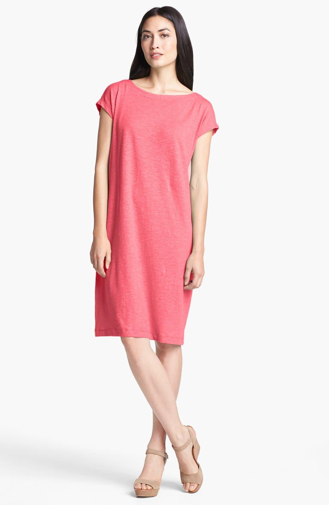 Alternate Image 1 Selected - Eileen Fisher Ballet Neck Dress