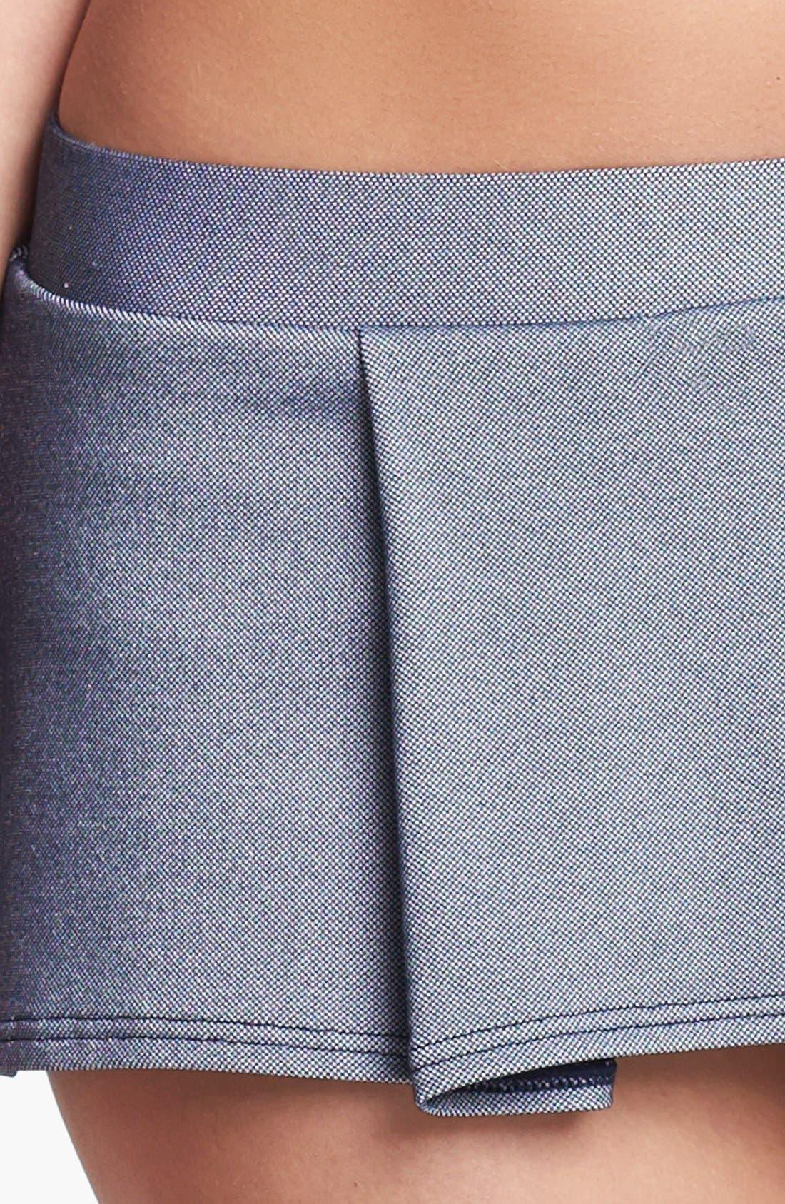 Alternate Image 5  - Tommy Hilfiger Pleated Skirted Bikini Bottoms