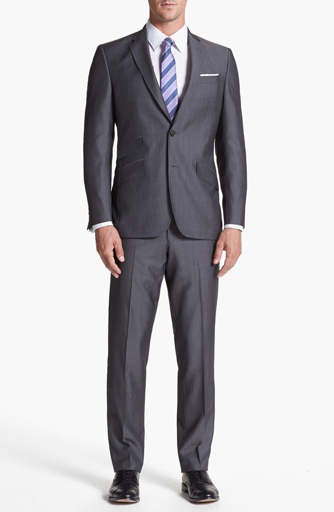 Alternate Image 1 Selected - Ted Baker London 'Jim' Grey Wool Suit