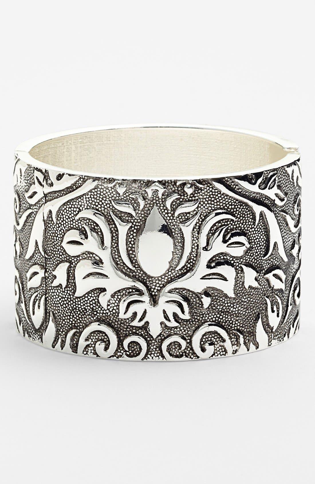 Alternate Image 1 Selected - Spring Street Engraved Metal Bangle