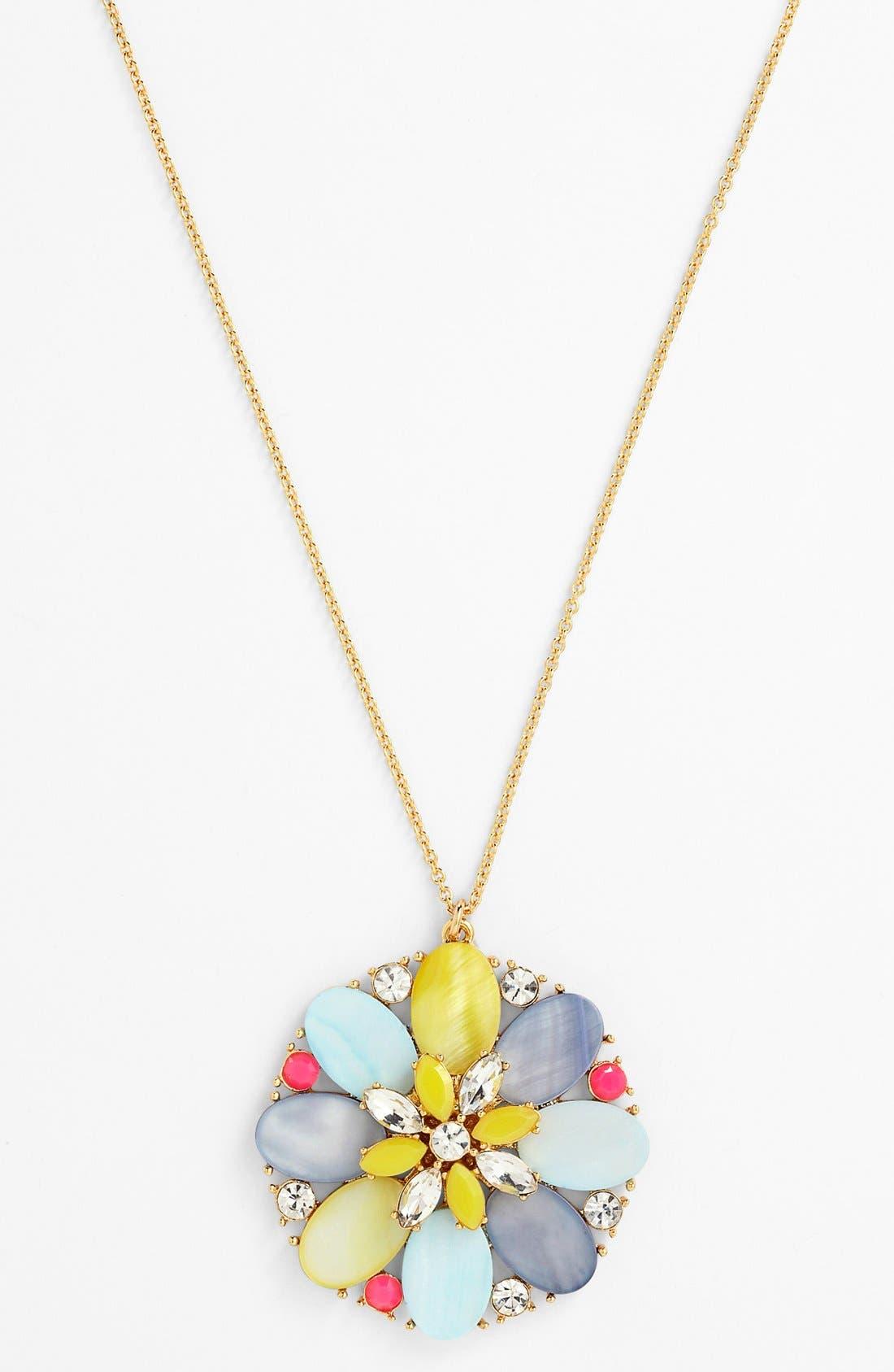 Main Image - kate spade new york 'bungalow bouquet' long pendant necklace