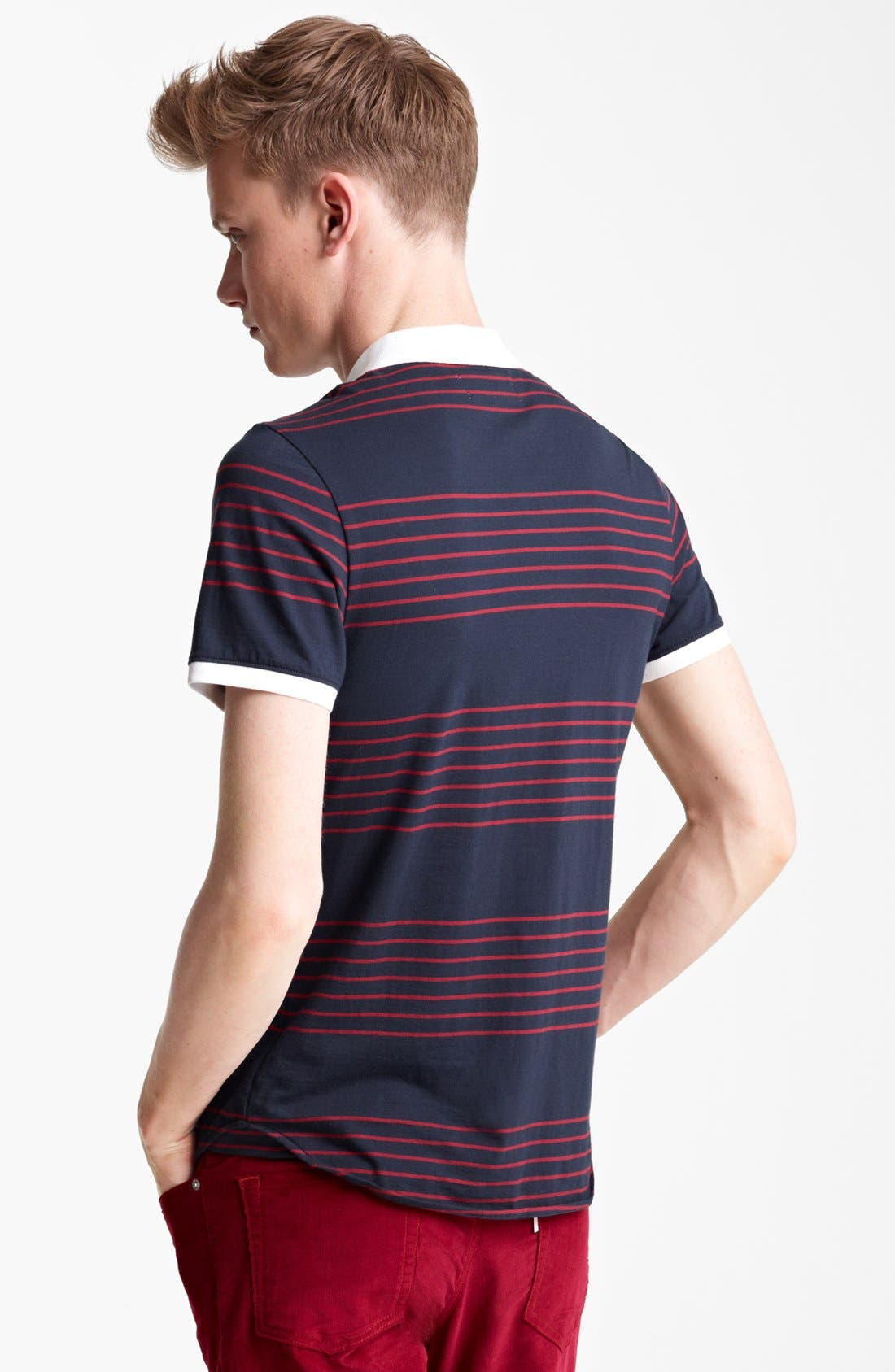 Alternate Image 2  - Shipley & Halmos 'Broome' Stripe Jersey Polo
